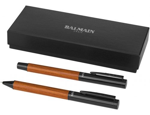 10688300 Balmain Woodgrain Pen Set