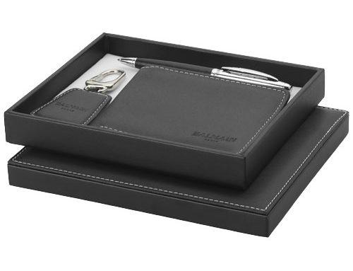 19982152 PU Wallet, Ballpoint Pen & Key Holder Gift Set *Black*