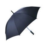 "UMS1029 23"" BLUE COLOURED FRAME STRAIGHT UMBRELLA Material: 190T PONGEE. Frame: Blue colour fiberglass ribs & shaft Top & Tips: plastic"