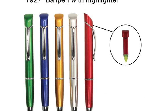 7927 Ballpen with highlighter