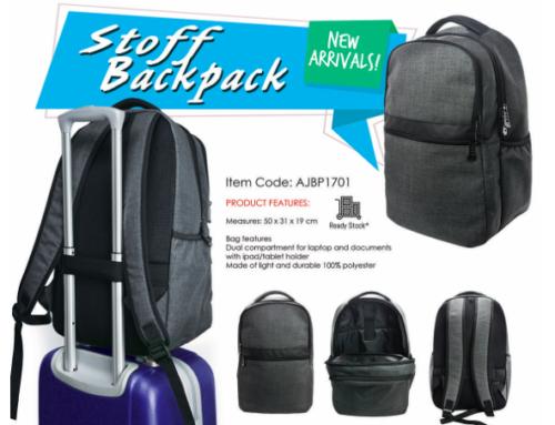 Stoff Backpack AJBP1701 *50 X 31 X 19cm