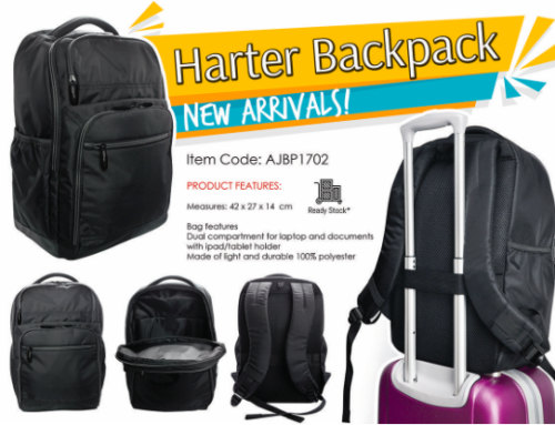 Harter Backpack AJBP1702 *42 X 27 X 14cm