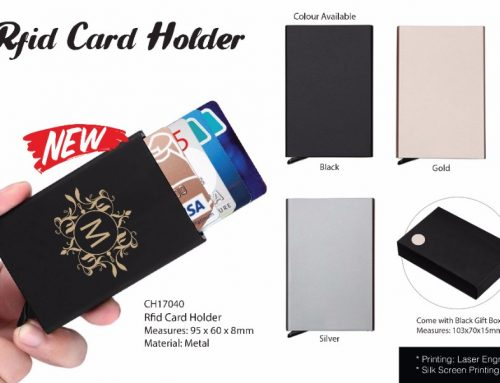CH17040 RFID Card Holder colors: black, gold & silver