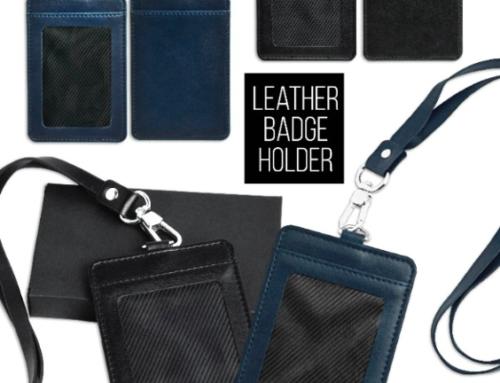 CH17041 Leather Badge Holder Set *Portrait*