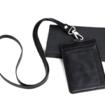 CH17041-ID Badge Holder+Lanyard+Gift Box 10.9 x 7.4 cm Material:PU Leather
