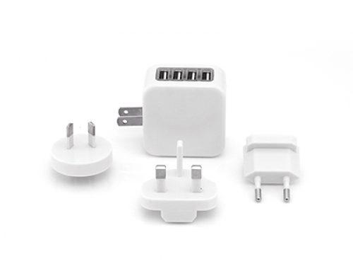 EGT1007 Travel Adaptor with 4 USB Hub*Input: 100~250vAC50/60Hz, output: 5v DC 3500mA.