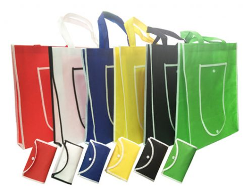 FG01 Foldable Woven Bag 37.5 x 35 x 8.5cm