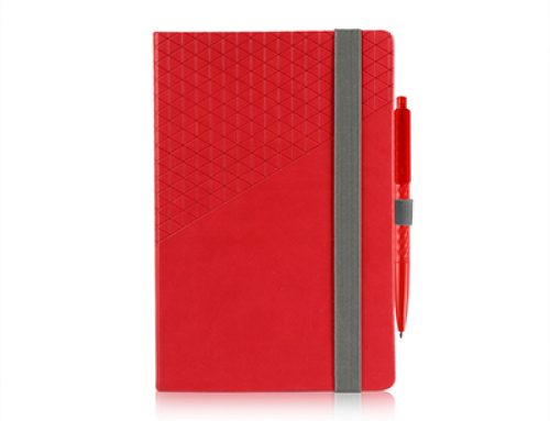FSS1012 A5 PU Geometric Notebook with Ballpen