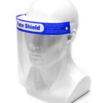 FS001 FACE SHIELD WITH BLUE LABEL Size : 33cm x 22cm