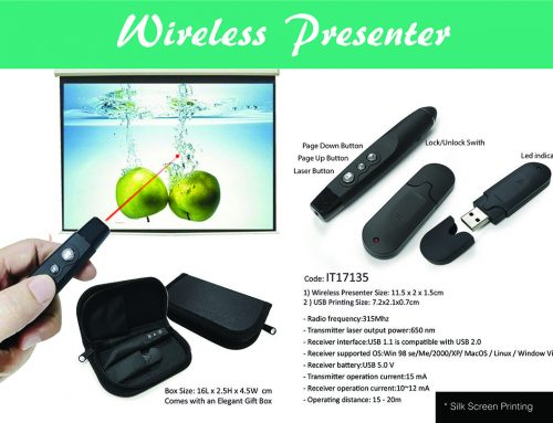 IT17135 Wireless Presenter 11.5cm X 2cm X 1.5cm