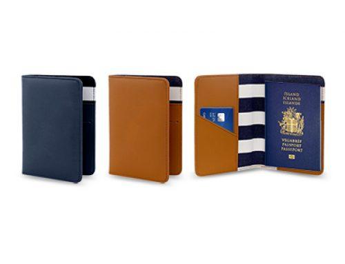 LHO1405 PU Leather + Canvass Passport Holder