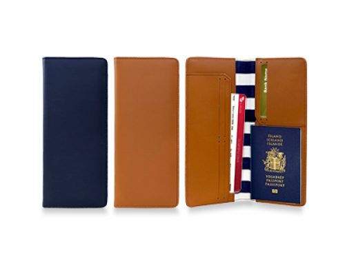 LOR1005 PU + Canvass Travel Wallet 23cm(H) x 10cm(L)
