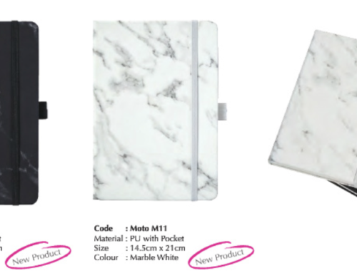 MOTO M11* A5 PU Notebook Marble Base