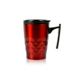HDC1020 DIAMOND MINI GEOMETRIC MUG 380ML. Material: Inside PP, outside SS, Silicone