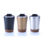 HDC1038 VACUUM SS MUG WITH CORK BASE 300ML. Material: SS Double Wall, PP
