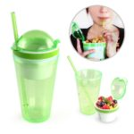 UTB1006 SNACK TUMBLER 300ML Material:PS + ABS
