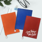 J03 A5 NOTEBOOK WITH METAL BOOKMARK Material: PU