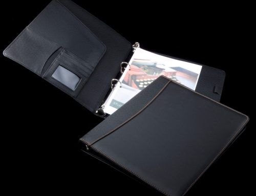 P02 A4 PU Leather Folder with Ring Binder