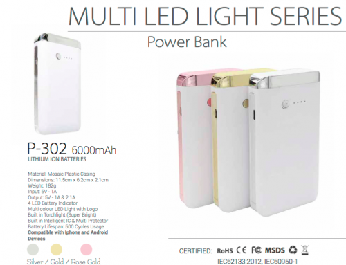 P302 Multi Led Light 6000mAh