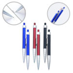 FPP1031 TWIN PLASTIC PEN SET - 1.0mm refill and ink is black in colour. A pen and a pencil for additional choices to write notes. Pencil lead at 0.7mm.