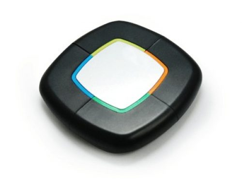 PPH1002 Square shaped highlighter with blue, yellow, orange & green marker