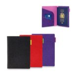 OHO1003 PASSPORT HOLDER. Material: PU Leather Dimensions: 13.6H x 10L x 0.6W cm (Closed), 13.6H x 19.6L x 0.3W cm (Opened)