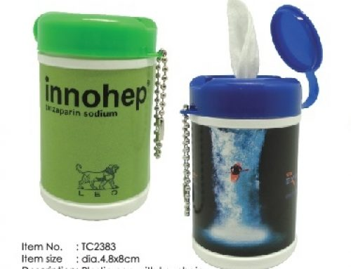 TC2383 Keychain with pocket can wet wipes 8cm(H) X 4.8cm(Diameter)