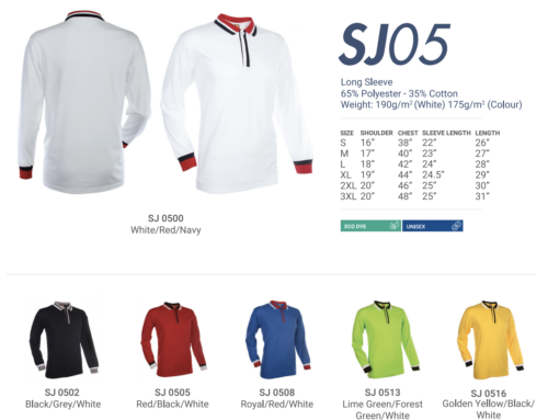 SJ05 Polo Long Sleeve Tee Shirt