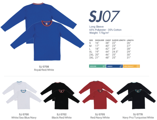 SJ07 Round Neck Long Sleeve Tee