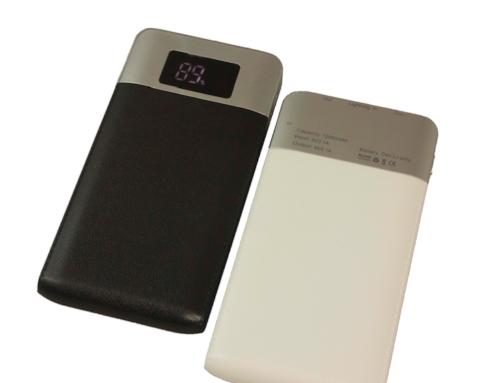 PB-1200 *12,000mAh Powerbank with LCD Display & 2 USB output-14.2 X 9.6 X 1cm*