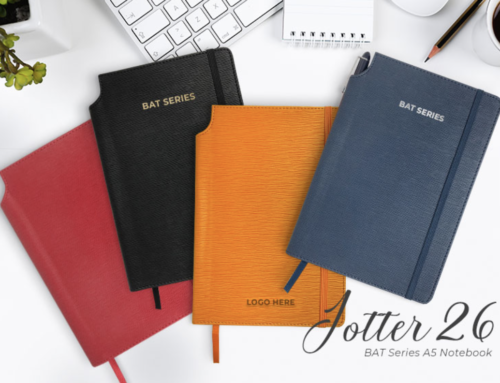 Jotter 26* A5 Hard Cover PU Leather wit Pen Slot, expandable inner pockets*