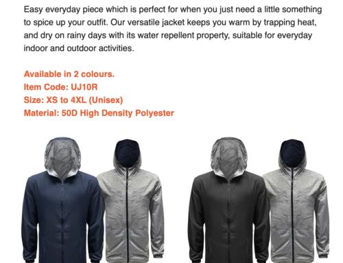 UJ10R Reversible Jacket