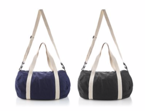 TTB6010The Cotton Barrel Duffel. Duffel with a large main zipped compartment. Front slash pocket. 29.5 cm carry handles. Detachable and adjustable shoulder strap. Canvas 170 g/m² Cotton.