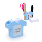 JNO1025 STATIONERY HOLDER W/PHOTO FRAME - Pen / small ruler holder. 150 sheet of papers to write notes. Photo frame. Dimensions: 8cm(H) x 9.5cm(L) x 3cm(W)