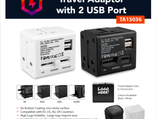 TA15036 Travel Adaptor with 2 USB Port