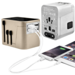 TA15034 ADAPTOR WITH 4 USB -Packaging: Black Pouch & White Gift Box