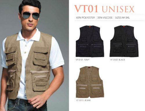VT01 Unisex Vest *65%polyester – 35% viscose