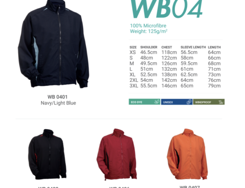 WB04 Windbreaker 100% microfibre