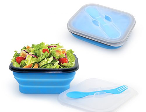 YKI1015 Foldable Lunchbox with Cutlery Set