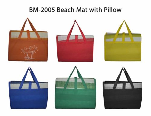 BM2005 Beach Mat with Inflatable Cushion/ Pillow and Carrier Bag H90 x W180 cm