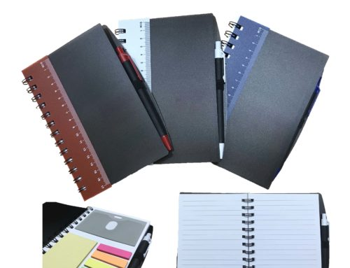 NB7567 Ruler Notebook with Sticky Notes & Pen 17.8cm X 13cm