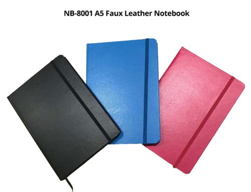 NB8001 A5 Faux Leather Notebook *colors: black, blue & fuchsia pink